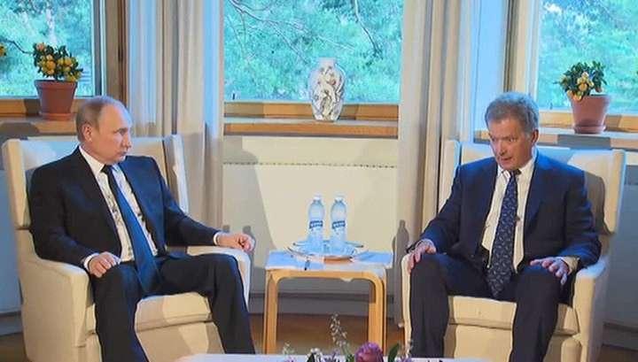 Владимир Путин встретился с Саули Ниинисте в его резиденции