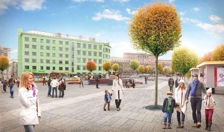 Тверская улица после благоустройства превратится в бульвар, а Новый Арбат - в парк