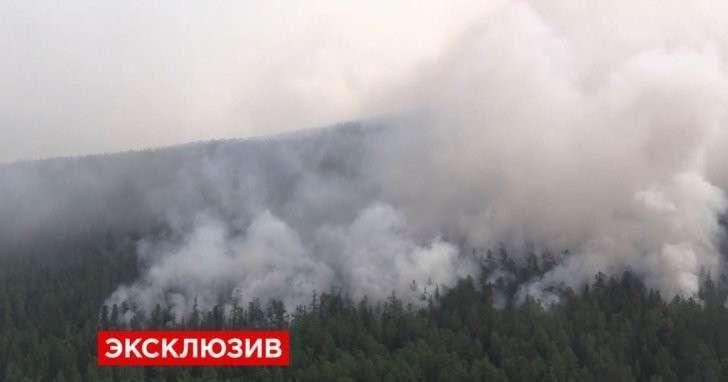 Опубликовано первое видео поисков самолёта Ил-76 с вертолёта