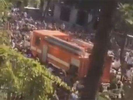 Появилось видео штурма здания МВД Абхазии оппозиционерами
