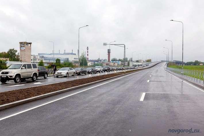 В Великом Новгороде открыто движение по третьему мосту через Волхов