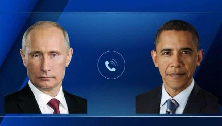 Владимир Путин обсудил Сирию по телефону с Бараком Обамой