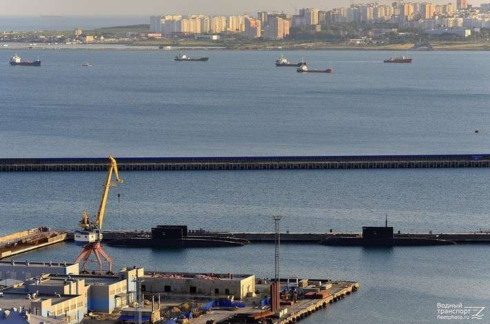 Подводные лодки Черноморского флота в Новороссийске