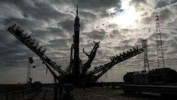 Ракета на космодроме Байконур. Архивное фото