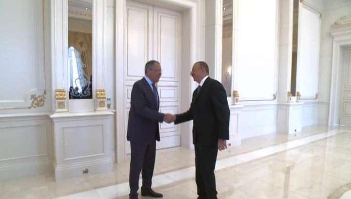 Сергей Лавров и Ильхам Алиев определяют шаги по урегулированию в Карабахе