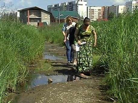 В Челябинске заботливая власть многодетным семьям выдала участки на болоте