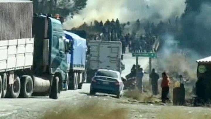 Беспорядки в Боливии не утихают