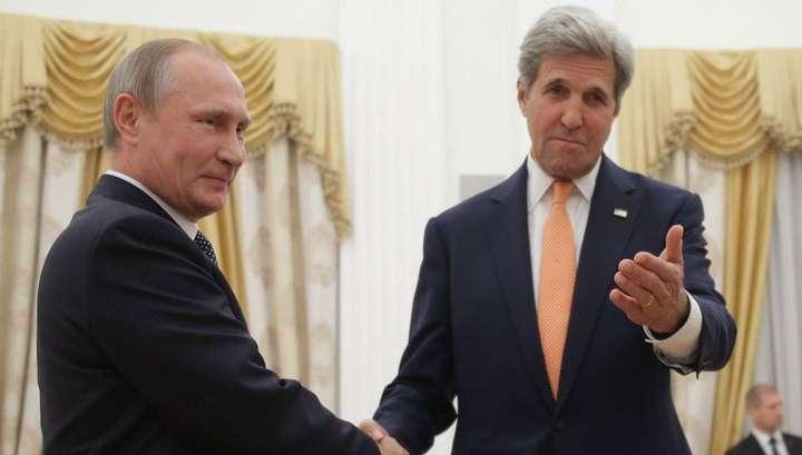 Владимир Путин и Керри начали встречу с наилучших пожеланий