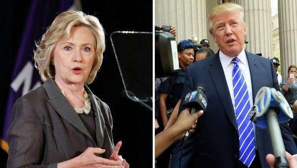 Хиллари Клинтон и Дональд Трамп. Архивное фото
