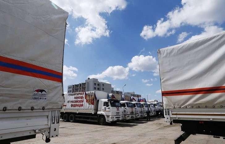 Россия отправила в Донбасс 54 автоколонну с гуманитарным грузом
