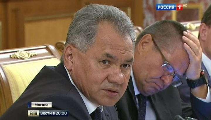 Министр обороны РФ Сергей Шойгу раскритиковал Газпром