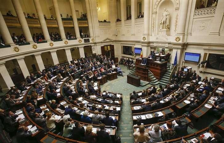 Заседание парламента Белгии