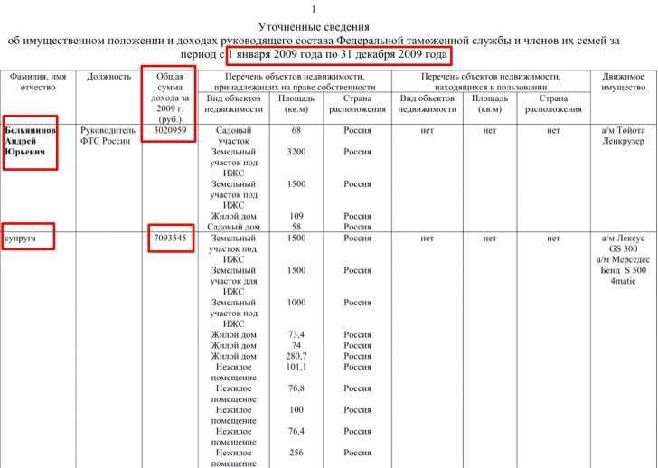 Декларация чиновника за 2009 год. Кликните на картинке для увеличения.