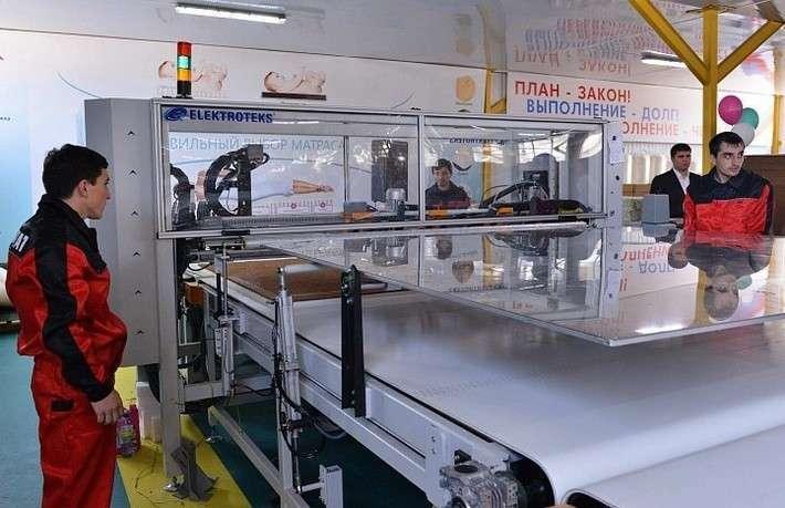 2. На фабрике матрасов в Дагестане запущена новая производственная линия Сделано у нас, история, политика, факты