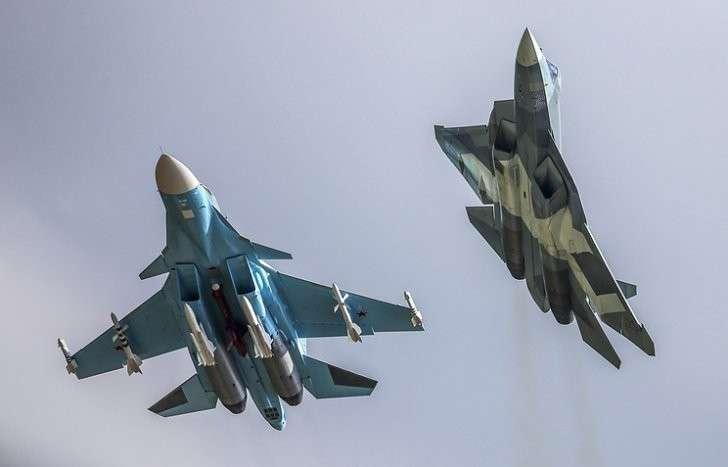 Су-34 и ПАК ФА (Т-50)