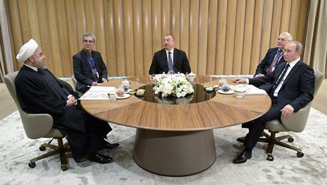 Путин, Роухани и Алиев приняли декларацию по итогам саммита в Баку