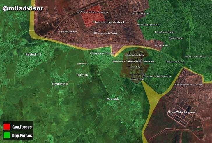 Ситуация под Алеппо к вечеру 08.08.2016