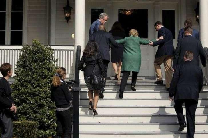 Хиллари Клинтон очень больна. Те, кто тянет её в презики, убивают всех, кто об этом знает