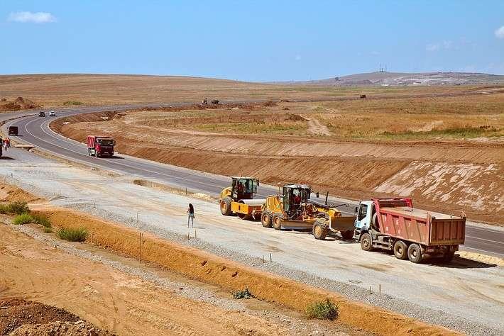 29. Строительство автомобильной дороги к Крымскому мосту.  Сделано у нас, политика, факты