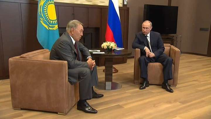 Владимир Путин поблагодарил Нурсултана Назарбаева за посредничество в примирении с Турцией