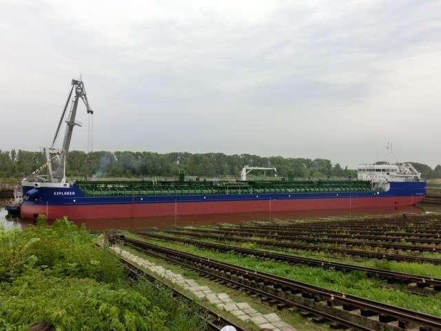 7. Завод «Красное Сормово» спустил на воду очередной танкер-продуктовоз «Explorer» проекта RST27 Сделано у нас, политика, факты