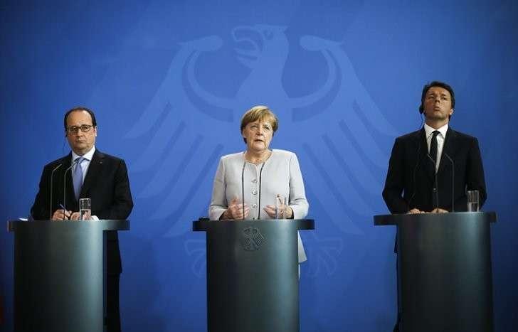 Лидеры Германии, Франции и Италии обсудят будущее объединённой Европы