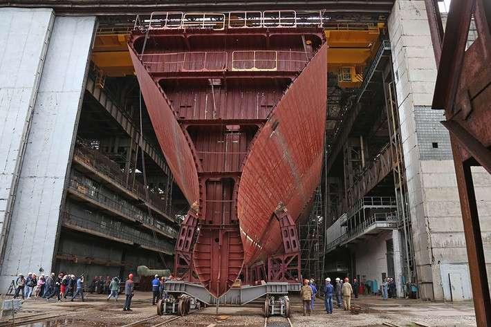 Строительство 9-го фрегата проекта 11356 на ПСЗ «Янтарь» в Калининграде