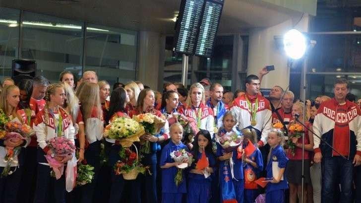 Российская олимпийская сборная вернулась в Москву