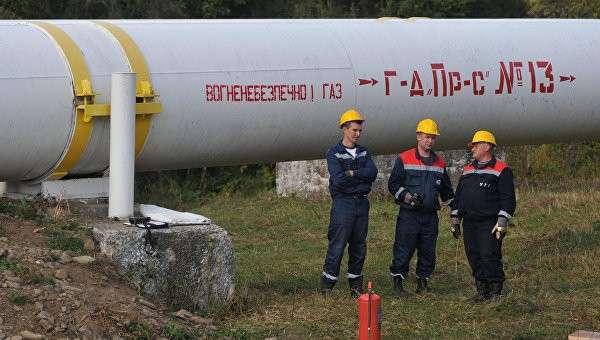 Сотрудники Укртрансгаза на газопроводе в Закарпатской области. Архивное фото