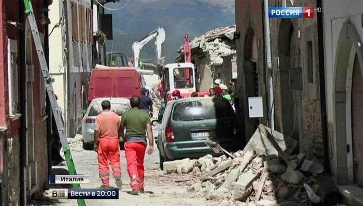 Число жертв землетрясения в Италии может вырасти до 1000 человек