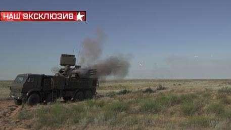 ЗРПК «Панцирь-С1» с первого выстрела уничтожает редакционный коптер «Звезды»