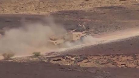 Грузинский бронеавтомобиль развалился на ходу во время боя в Йемене