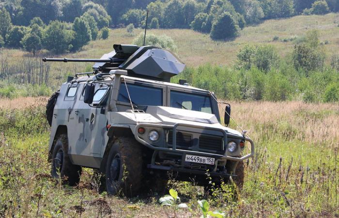 Первые стрельбовые испытания новейшего российского роботизированного бронеавтомобиля «Тигр»
