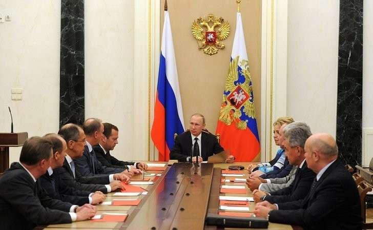 Совещание спостоянными членам Совета Безопасности.