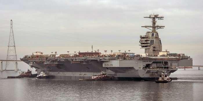 Самый дорогостоящий авианосец США признали непригодным для боя