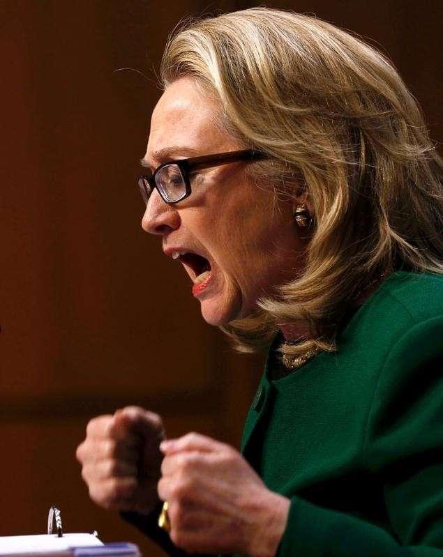 Хиллари - скандлистка, не умеющая держать себя в руках Хиллари Клинтон, билл клинтон, политика, сша