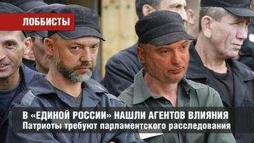 Среди депутатов Думы от «Единой России» нашли агентов влияния