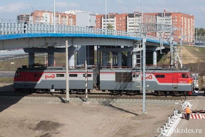 В Омске открыли новый путепровод