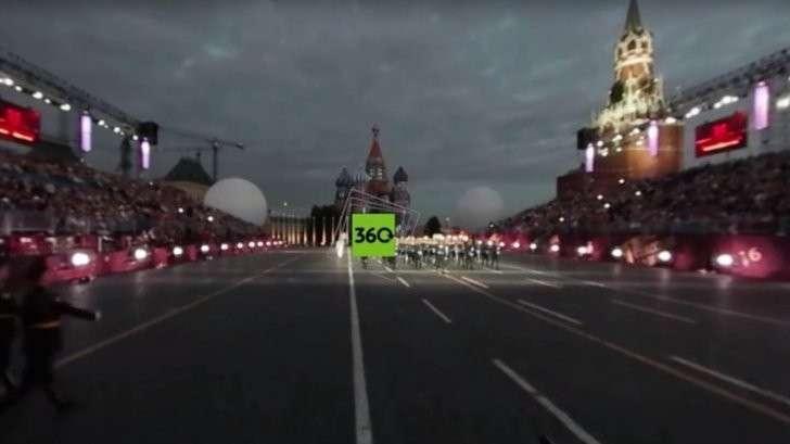 Видео 360: выступления военных оркестров на фестивале «Спасская башня – 2016»