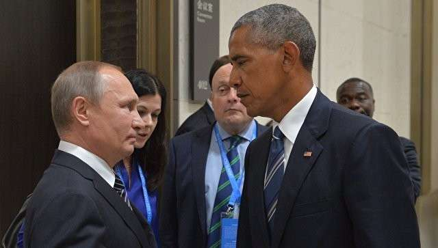 Президент РФ Владимир Путин и президент США Барак Обама во время встречи в Ханчжоу. 5 сентября 2016. Архивное фото
