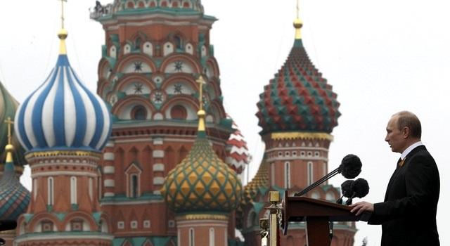 Президент Путин поздравил москвичей с Днём города на Красной площади