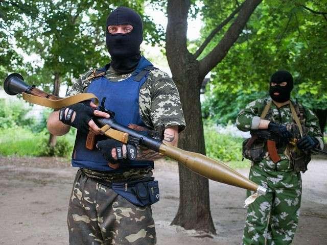 Добровольцы из России в Донецке