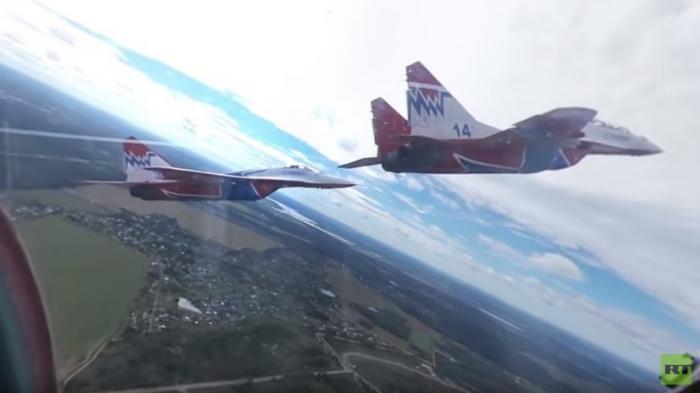 Видео 360: полёт в кабине МиГ-29 в составе легендарных «Стрижей»