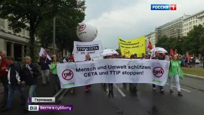 Тупой Пиар Меркель и Обамы не сработал: немцы против TTIP