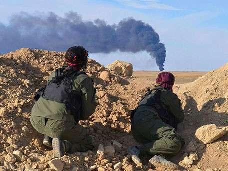 Сразу после авиаудара коалиции США боевики ИГИЛ перешли в наступление