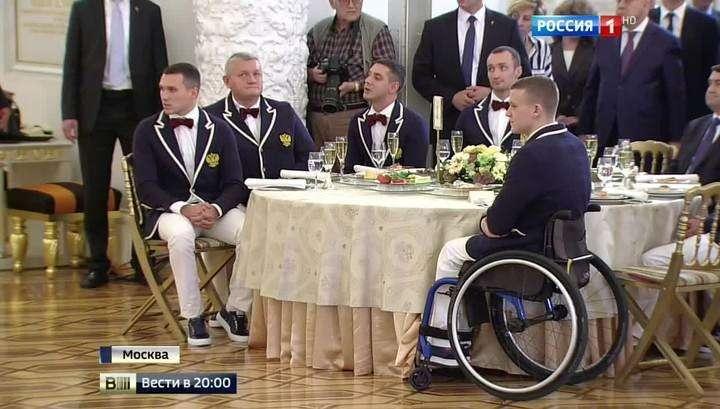 Владимир Путин считает паралимпийцев защитниками интересов Родины