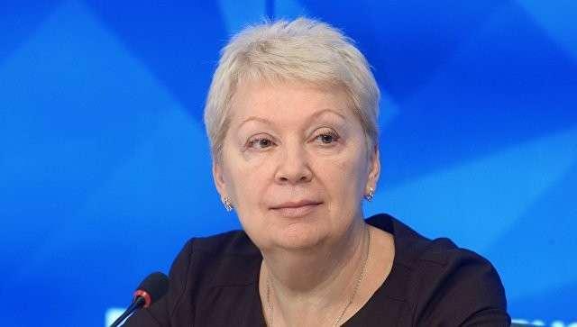 Министр образования и науки Российской Федерации Ольга Васильева на пресс-конференции в Международном мультимедийном пресс-центре МИА Россия сегодня
