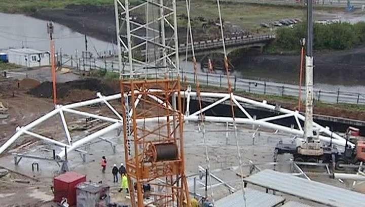 В Саранске приступили к завершающей стадии строительства стадиона к ЧМ-2018