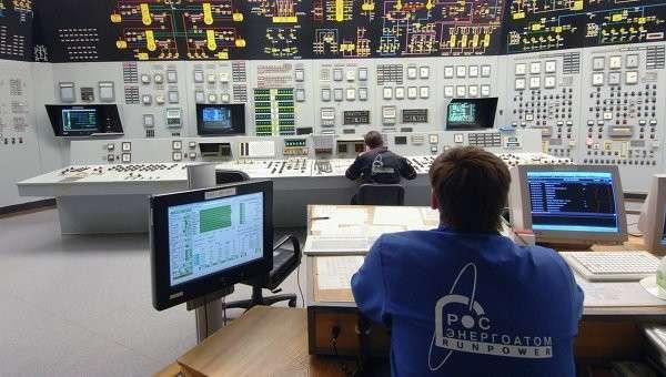 Щит управления энергоблока АЭС, архивное фото