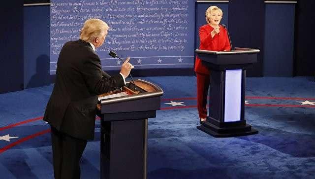 Дональд Трамп и Хиллари Клинтон на теледебатах. 27 сентября 2016 год